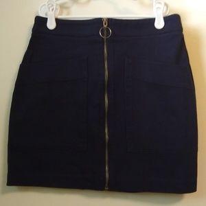 Navy blue mini skirt NWT